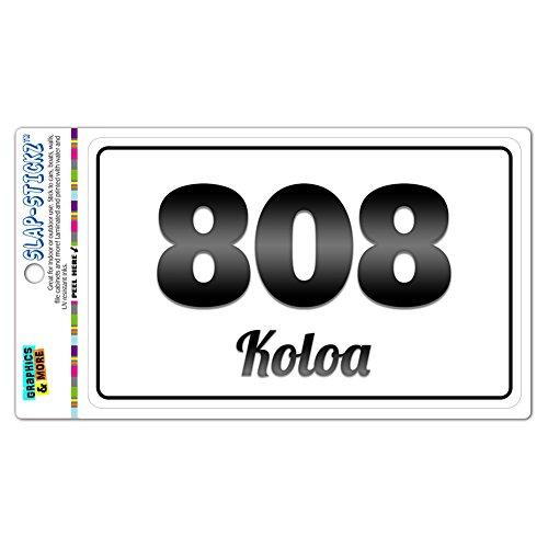 Area Code B&W Window Bumper Laminated Sticker 808 Hawaii HI Aiea - Maunaloa - - Koloa Hi