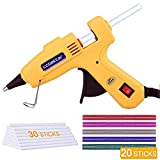 30W Mini Hot Melt Glue Gun Kit with 25pcs Hot Glue Sticks High Temperature Energy Efficient for DIY Small Craft and Quick Repairs, Yellow