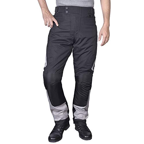 Motorcycle Textile Riding Pants with Removable CE Armor(L) -