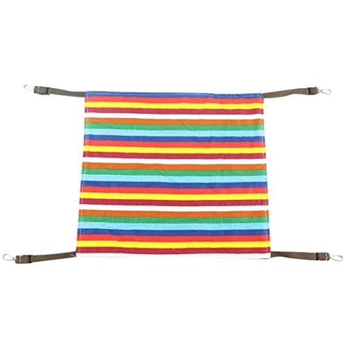 Bolster Hammock (WaiiMak Hanging Pet Hammock Removable Cotton Fleece Bed Animal Pets Swinging Sunbath (L, Multicolor))