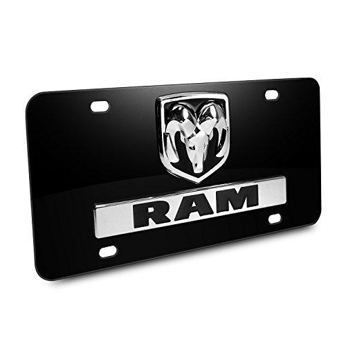 Dodge RAM 3D Logo Nameplate Black Metal License -