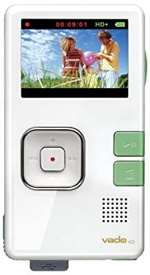 Creative Labs Vado HD 4 GB Pocket Video Camcorder, 2nd Generation (White Gloss with Green Accents) from Creative Labs