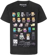 Minecraft - Camiseta oficial diseño personajes Sprites para niños