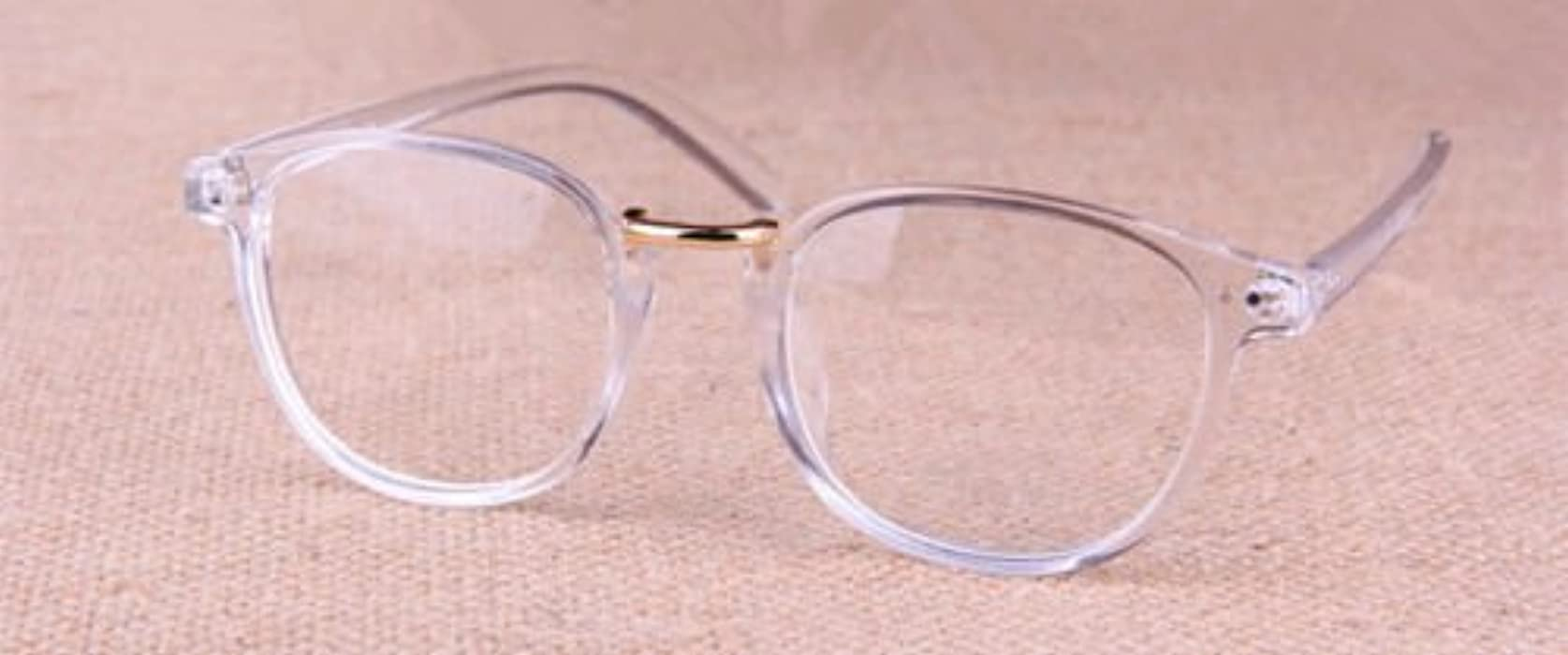 Hot Sale Transparent Silver Eyeglass Frame Clear Glasses Full Rim Retro Eyewear Men's Eyewear Frames