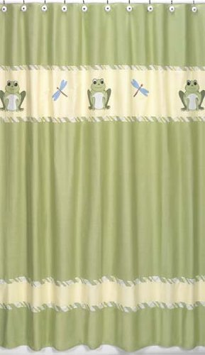Leap Frog Kids Bathroom Fabric Bath Shower Curtain By Sweet Jojo Designs
