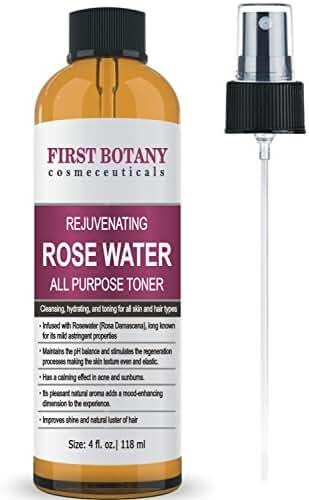 First Botany Cosmeceuticals Rejuvenating Rose Water Toner 4 fl. oz. Spray