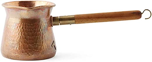 Serendipity Ibrik - Cafetera turca con mango de madera, cafetera para café en seco, cobre, tamaño mediano, 350 ml: Amazon.es: Hogar