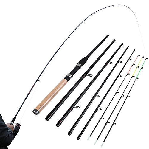 L M H Power Fishing Rod 99% Carbon Feeder Rod 3m Length 6 Sections Lure Fishing Stick Fishing Tackle,White