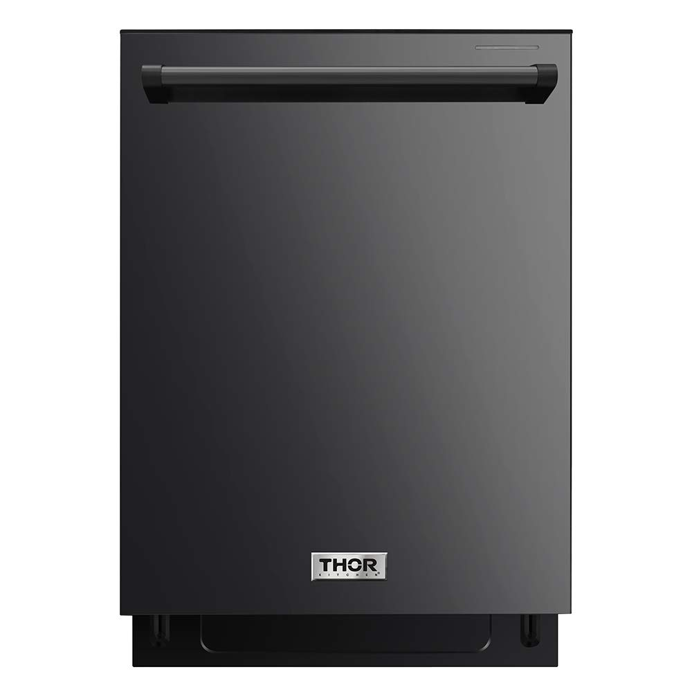 "Thor Kitchen 24"" Built-In Pro-Style Dishwasher Black Stainless Steel - HDW2401BS"