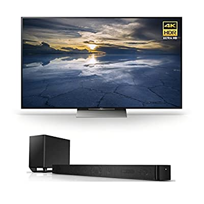 Sony X940D 75-Inch HDR with Android TV and Sony HT-ST9 High Resolution 7.1 Channel Sound Bar w/ Wi-Fi/BT