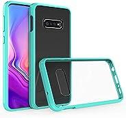 Luxmo Funda Case para Samsung S10 Plus Protector de Acrílico Rígido/Bumper Suave, color Menta