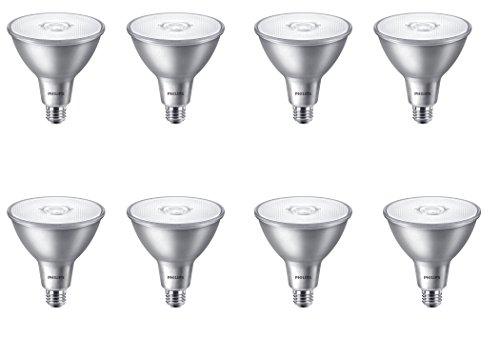 Philips LED Indoor/Outdoor Classic Glass Non-Dimmable PAR38 40-Degree Flood Light Bulb: 850-Lumen, 3000-Kelvin, 11-Watt (90-Watt Equivalent), E26 Base, Bright White, 8-Pack