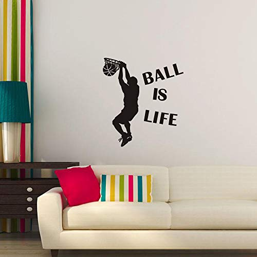 Ball is Life Sport Playing Basketball PVC Wall Sticker Home Decor DIY Art Letter Printed Girl's Gift-Beyonds