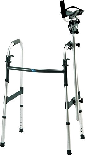 INV6027 - Walker Platform Attachment with Thick Vinyl-Covered Pad with Heavyduty Velcro Strap by Invacare