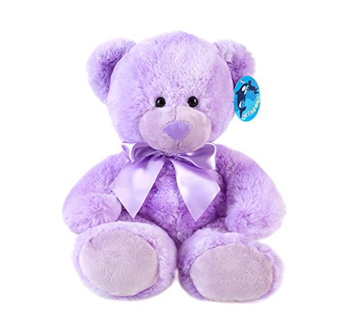 WILDREAM Purple Teddy Bear Stuffed Animal Plush in Sitting Position 9.8
