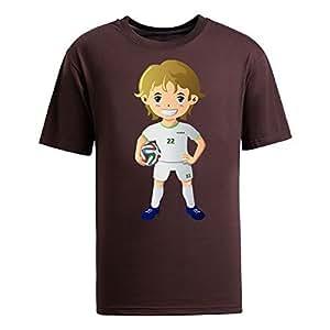 Custom Mens Cotton Short Sleeve Round Neck T-shirt,2014 Brazil FIFA World Cup UP72 brown