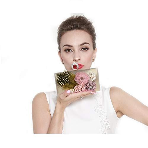 B Et de Main soirée soirée Fleur à Sacs Sac Style E Femme Nouveau 7x5inch 18x12cm fériés Jours Fashion d'autres Soirée Pochette Bal Mini de XnHPxtgU