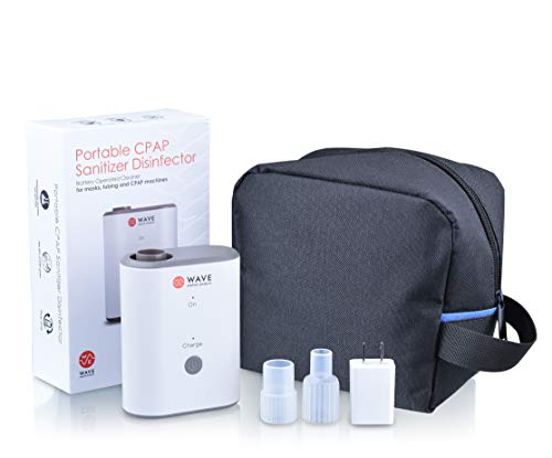 (Wave Medical CPAP Cleaner and Sanitizer Bundle - CPAP Machine Cleaner System for Machines, Masks, and Tubing - Includes Heated Hose Adapter, AirMini Adapter, and Sanitizing Bag)