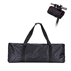This carrying bag is designed for Xiaomi Mijia M365 electric scooter. It is made of 1680D oxford cloth, water resistant and tear resistant. It can be folded into a compact size and mount on the scooter handlebar, very convenient. With this sc...