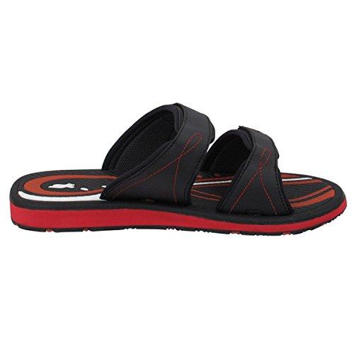 Gold Pigeon Shoes GP6888 Adjustable Durable Outdoor Water Slide Sandal Slippers For Men Women Kids (Size: T10 & up) 6888 Black Red VbGlFIJS