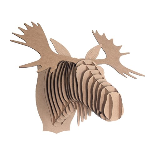 Cardboard Safari Recycled Cardboard Animal Taxidery Moose Trophy Head, Fred Brown Small (Moose Head Trophy)