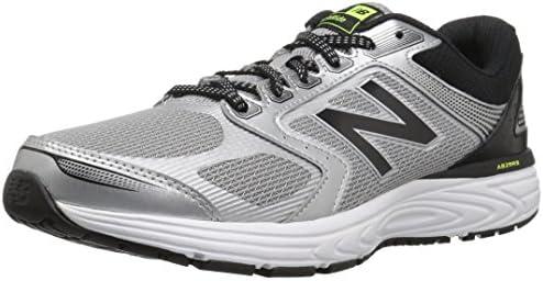 New Balance Men s 560v7 Cushioning Running Shoe, Silver Black,