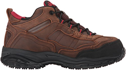 Skechers Work Mens Soft Stride Gilbe Slip Resistant Boot Brown