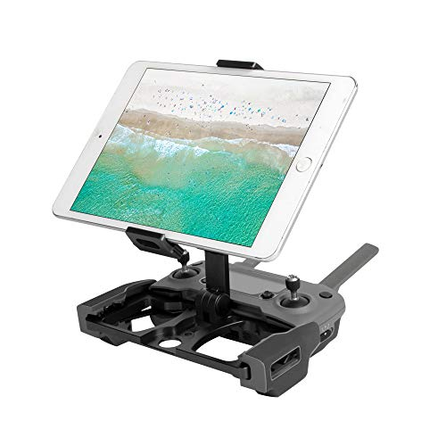 Gotian Phone Tablet Monitor Holder Stand Mount Clip for DJI Mavic 2 / Pro/Air/Spark ~ Full Aluminum Alloy Design ~ Stretchable Design, Suitable for Smartphone/Tablet ~ (black)