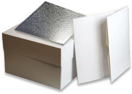 Caja cuadrada para tartas de 20,32 cm con tambor cuadrado para ...