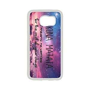 K-G-X Phone case For Samsung Galaxy S6 Case-Pattern-12 Hukuna Matata Quotes Protective Back Case