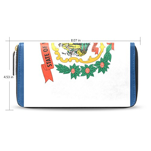 (Womens West Virginia Leather Long Wallet & Purse Case with Card Holder)