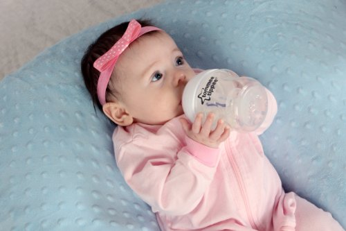 THE TWIN Z PILLOW - BLUE - 6 uses in 1 Twin Pillow ! Breastfeeding, Bottlefeeding, Tummy Time, Reflux, Support and Pregnancy Pillow! CUDDLE BLUE DOTS by Twin Z PIllow (Image #4)