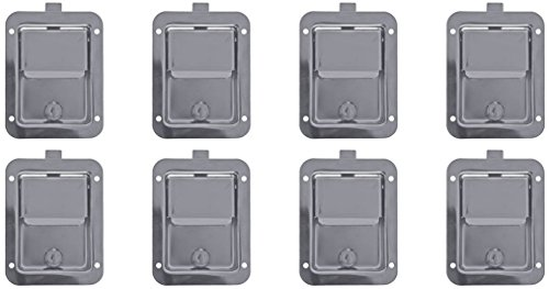 Set of 8, Buyers Products L3885-x8, L3885GO-x8 Stainless Steel Paddle Latch & Gasket for Tool Box Door, Truck and Utility (Latch Gasket)