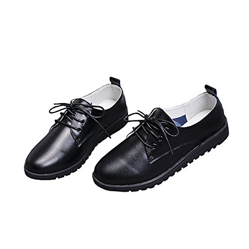 Lisianthus002 - Zapatos de cordones de Otra Piel para mujer negro