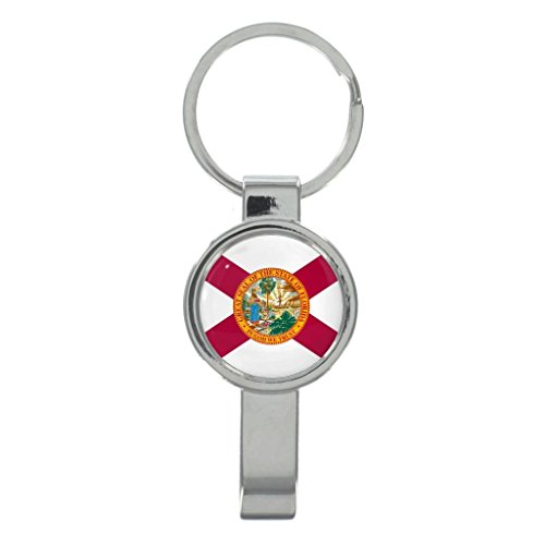 Florida US State Flag Metal Cap Remover Keyring in Gift - Stores Tallahassee In Fl