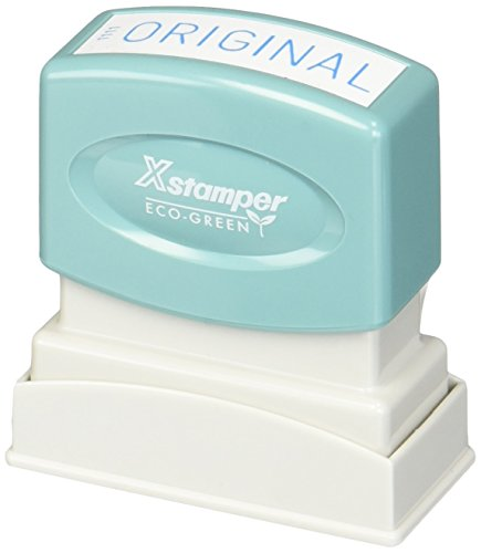 Xstamper(R) One-Color Title Stamp, Pre-Inked,
