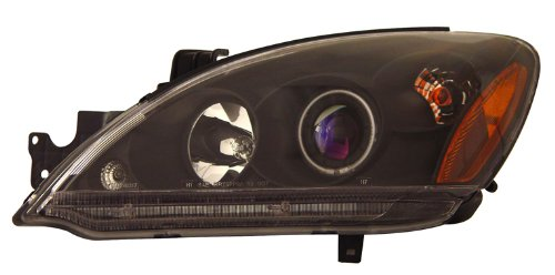 Mitsubishi Lancer 04-06 Projector Head Lamps / Lights Halo Black Clear Amber (Ccfl) Euro Performance