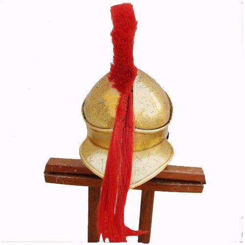 [Queen Brass Spartan King Leonidas 300 Movie Helmet Replica Gift For Larp/ Role/ Play Costume Standard] (300 Spartan King Leonidas Costume)