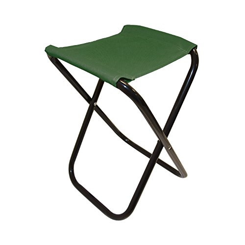 ALEKO CS02GR Outdoor Foldable Camping Chair Fishing Stool Portable Hiking Beach Travel Seat, Green