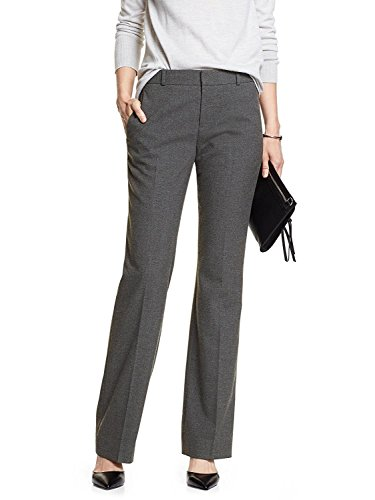 Banana Republic Women's Heather Gray Martin-fit Dress Pants Trousers - Trousers Banana Republic