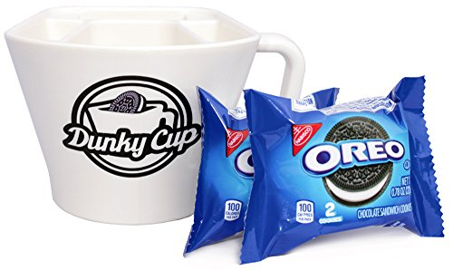 Dunky Cup - For Dunking Sandwich Cookies (Oreos) in Milk, Snacks, More! (1, blue - Cookie Gift Mug