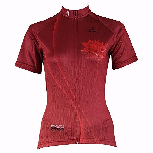 Paladin Women's Lotus Pattern Short Sleeve Road Bike Clothing 100% Polyester Size XXL