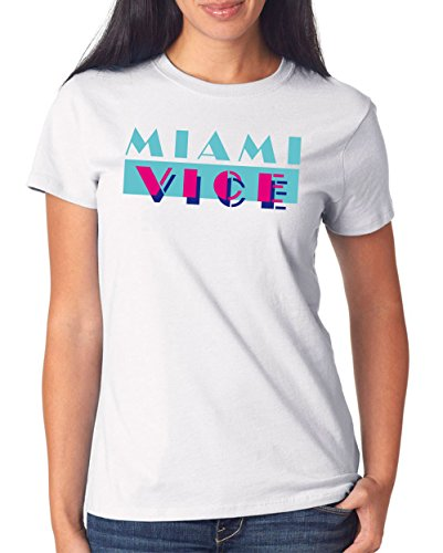 Miami Vice Logo T-Shirt Girls White Certified Freak