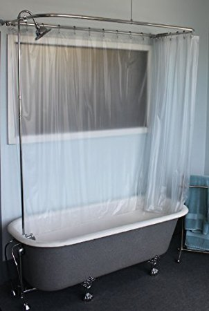 Clawfoot Tub RX2300J JUMBO Add A Shower Includes 60 D Rod With Rings Showerhead