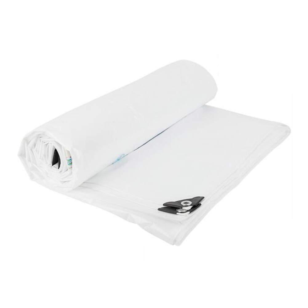 DALL ターポリン タープ 防雨 シェッドクロス 防雨 耐摩耗性 アルミニウムアイレット (色 : 白, サイズ さいず : 6*6m) 6*6m 白 B07KSRG6V7