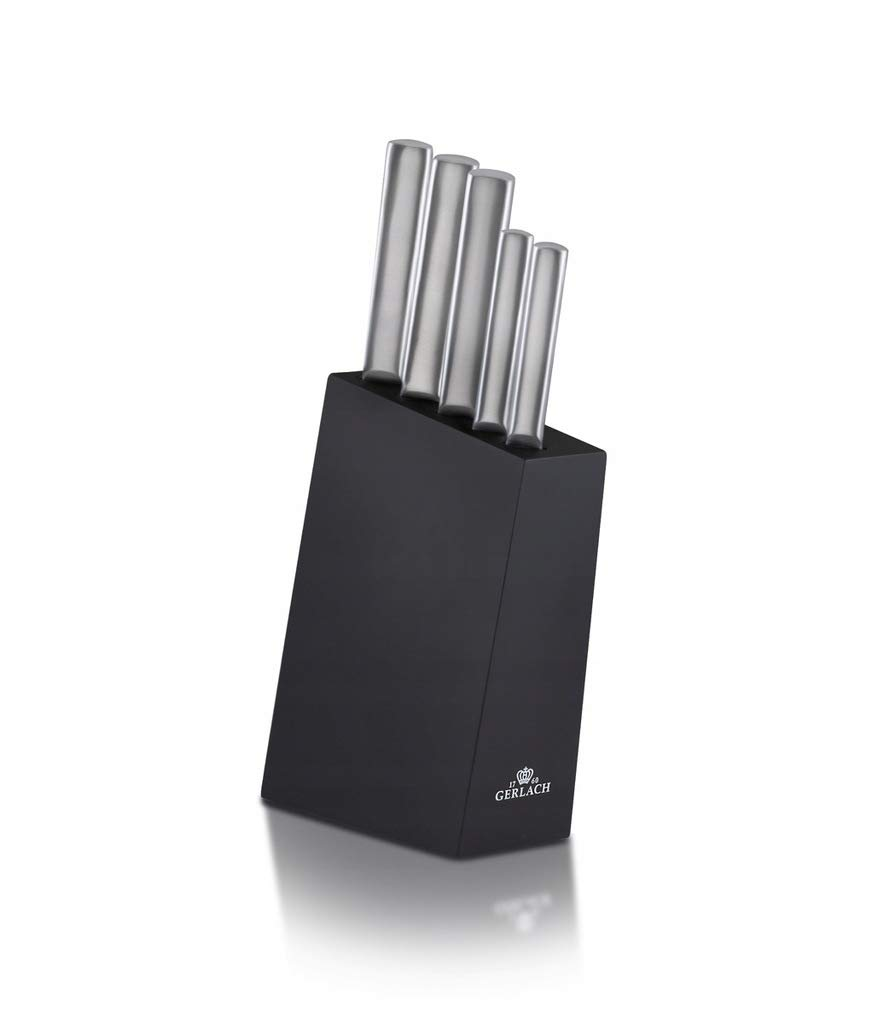 Gerlach G02-0983M-ZENB-05PU-S5S1-01 Set of The Kitchen Knives in Block Ambiente-G02-0983M-ZENB-05PU-S5S1-01, Stainless Steel