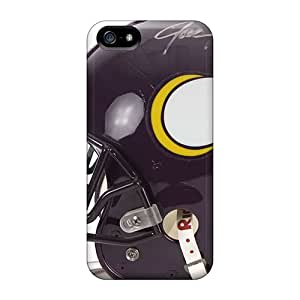 SIOSb1994TLbxj RareCases Minnesota Vikings Helmet Durable Iphone 5/5s Tpu Flexible Soft Case