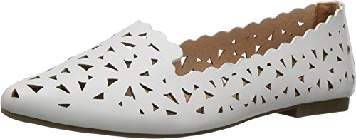 UNIONBAY Womens Welcome Pointed Toe Flat White ebiwfJ