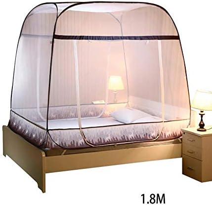 Moustiquaire ciel de lit Pop Up pliable double porte facile à installer avec fo