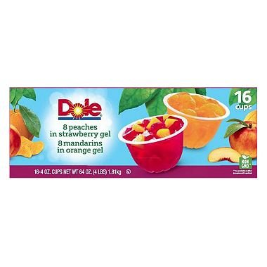Dole Fruit in Gel Cups Variety Pack - 4.3 oz Cups - 16 ()